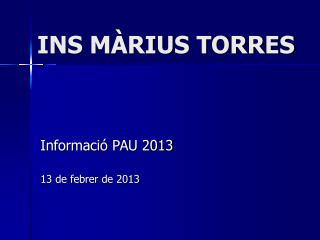 INS MÀRIUS TORRES