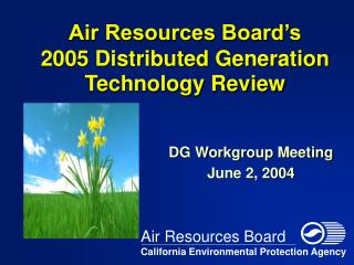 Air Resources Board's 2005 Distributed Generation Technology Review