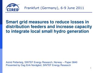 Astrid Petterteig, SINTEF Energy Research, Norway – Paper 0840