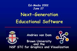 Next-Generation  Educational Software