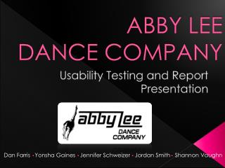ABBY LEE  DANCE COMPANY