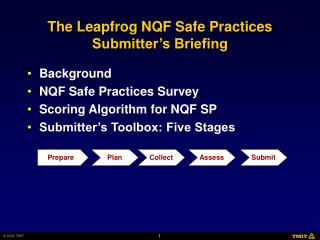 The Leapfrog NQF Safe Practices Submitter's Briefing