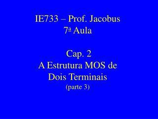 IE733 – Prof. Jacobus 7 a  Aula  Cap. 2  A Estrutura MOS de Dois Terminais (parte 3)