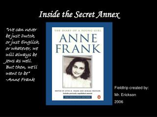 Inside the Secret Annex