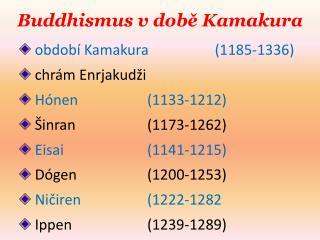Buddhismus v době Kamakura