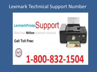 1-800-832-1504 Lexmark Technical Support Phone Number