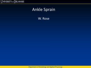 Ankle Sprain W. Rose