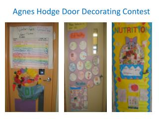 Agnes Hodge Door Decorating Contest