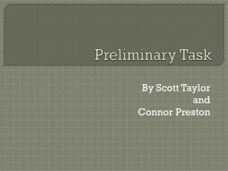 Preliminary Task