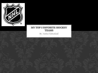 My top 5 favorite hockey teams