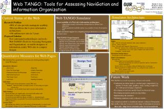 Assess usability of a Web site�s information architecture: