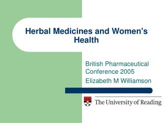 Herbal Medicines and Women's Health