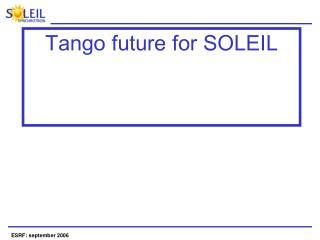Tango future for SOLEIL