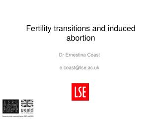 Fertility transitions and induced abortion