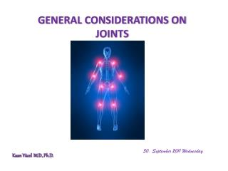 GENERAL CONSIDERATIONS ON JOINTS