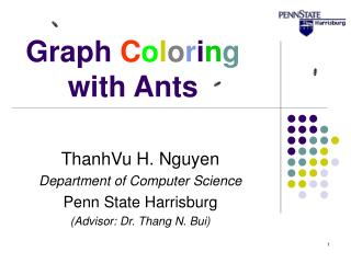 Graph  C o l o r i n g  with Ants