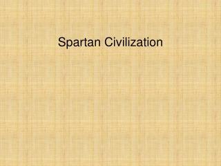 Spartan Civilization