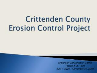Crittenden County Erosion Control Project