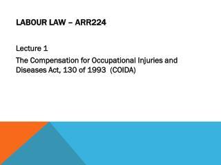 Labour Law – ARR224