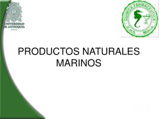 PRODUCTOS NATURALES MARINOS