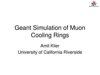 Geant Simulation of Muon Cooling Rings