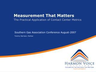 Measurement That Matters