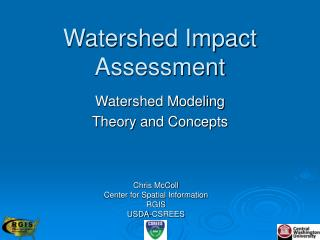 Watershed Impact Assessment