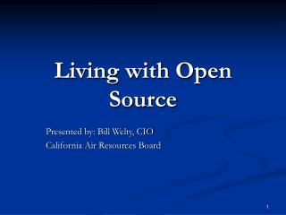 Living with Open Source
