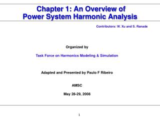 Chapter 1: An Overview of  Power System Harmonic Analysis
