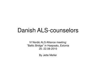 Danish  ALS-counselors