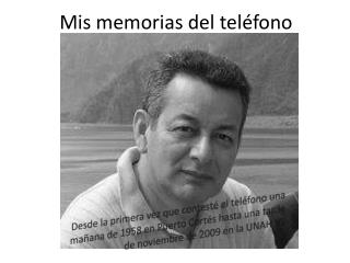 Mis memorias del teléfono