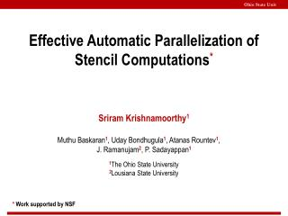 Effective Automatic Parallelization of Stencil Computations *