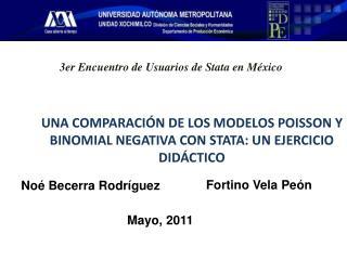 UNA COMPARACIÓN DE LOS MODELOS POISSON Y BINOMIAL NEGATIVA CON STATA: UN EJERCICIO DIDÁCTICO