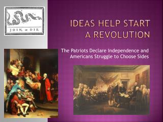 Ideas help start  a revolution
