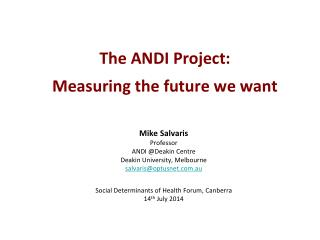 The ANDI Project: Measuring the future we want