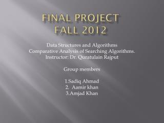 Final Project Fall 2012