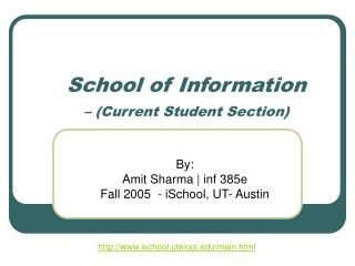 School of Information  – (Current Student Section)