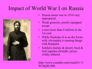 Impact of World War I on Russia