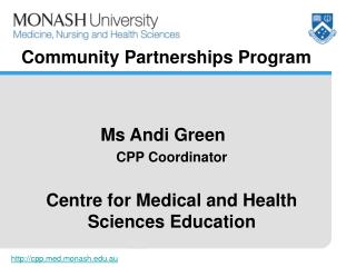 Co mmunity Partnerships  Program