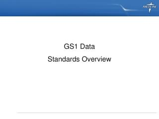 GS1 Data Standards Overview