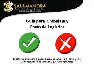 Guía para  Embalaje y Envío de Logística