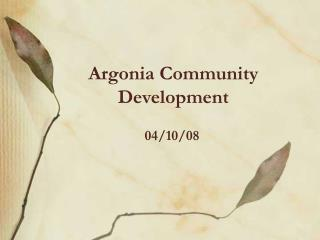 Argonia Community Development