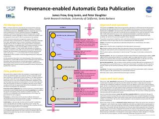 Provenance-enabled Automatic Data Publication