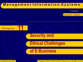 Security and Ethical Challenges of E-Business