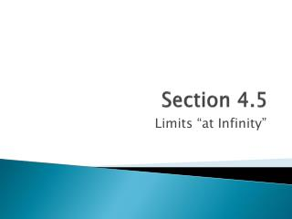 Section 4.5