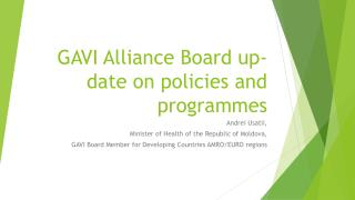 GAVI Alliance Board up-date on policies and programmes