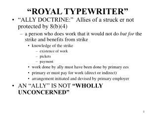 """""""ROYAL TYPEWRITER"""""""