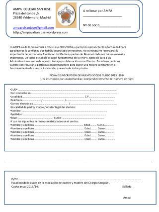 La AMPA os da la bienvenida a este curso 2013/2014 y queremos aprovechar la oportunidad para