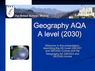 Geography AQA A level (2030)