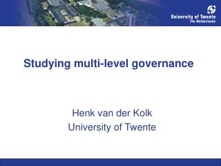 Studying multi-level governance
